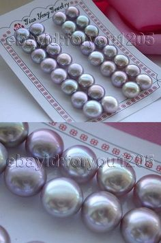 Other Wholesale Earrings 51015: Wholesale 16Pairs Genuine Natural 12Mm Purple Pearl Earrings! -> BUY IT NOW ONLY: $38.99 on eBay!