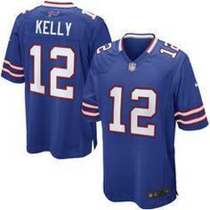 Men's Buffalo Bills 12 Jim Kelly Nike Royal Blue Retired Player Game Jersey