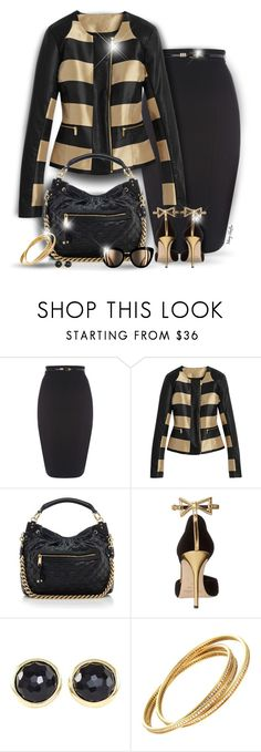 """NYFW - Classic Black & Gold"" by mcheffer ❤ liked on Polyvore featuring Marc Jacobs, Oscar de la Renta, Ippolita and NYFW"