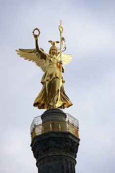 Angel on top of the Column of Victory, Berlin ,Germany. Saw this on our Baltic Cruise
