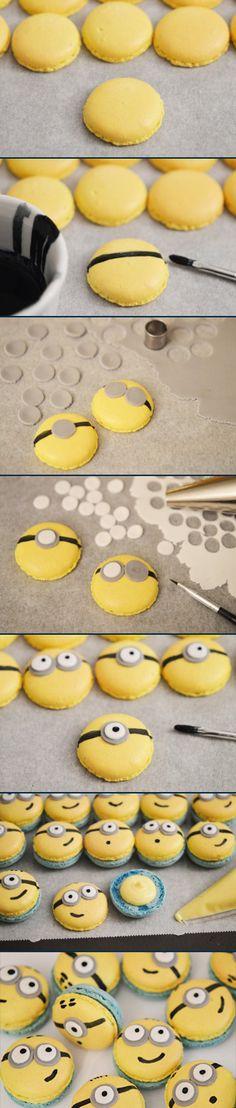 Pâtisserie : Macarons tout minions (avec du lemon curd) à réaliser à la maison !