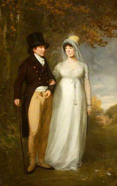 William Blathwayt IV (1751–1806), and His Wife, Frances Scott (d.1844), out Walking, 1806 by Thomas Phillips