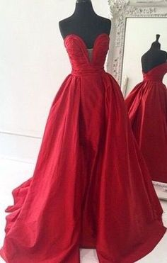 Bg779 Charming Prom Dress Satin Prom Gown Red