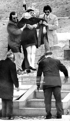 Joe Gallo's mother is aided after fainting outside Guido Funeral home at the Funeral of her son Joe Gallo, Colombo Crime Family, Real Gangster, Mafia Families, Mobsters, Tough Guy, Gangsters, My Childhood Memories, Rackets