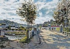 The Bridge at Bougival - Claude MonetClaude Monet♦️More Pins Like This At FOSTERGINGER @ Pinterest ♦️