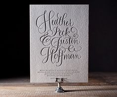 Fanciful flourished forms of finely calligraphed love letterpressed on our exclusive eco-luxury paper, Simple Charms is an invitation of superbly good breeding.