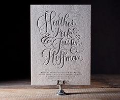 Simple Charms letterpress invitation by Bella Figura