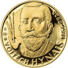 VOJTĚCH HYNAIS - 160. VÝROČÍ NAROZENÍ ZLATO Coins, Personalized Items, Coining