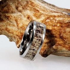 The Deer Antler inlay on this Titanium band is solid and goes all the way around the Titanium Ring, with no joints. Because it is a natural product, the color of the antler in the ring that you receive will vary from the color of the ring pictured. The last [...]