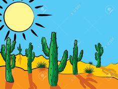 Vector Cactus In Desert Clip-art Royalty Free Cliparts, Vectors ...