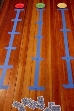 Number line activity setup