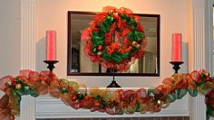 Poly Deco Mesh Wreaths for sale - View the slideshow on Photobucket.