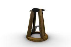 Tischgestell Holz massiv Cycle