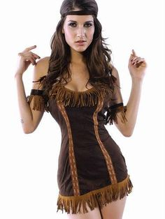 f5aec78b0 New Sexy Indian Princess Costume Dress Feathers Lingerie