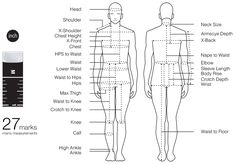 A Tape marked with body measurements  #fashionary #tapemeasure