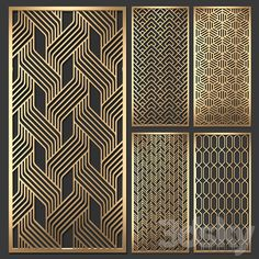 models: Other decorative objects - Decorative partition Decorative Metal Screen, Decorative Panels, Decorative Objects, Modern Window Design, Modern Window Grill, Modern Fence, Jaali Design, Cnc Cutting Design, Hacker Wallpaper