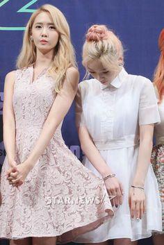 150721 '채널 소녀시대/Channel SNSD' Press Conference : Taeyeon, Yoona