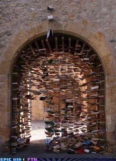 Book arch with door