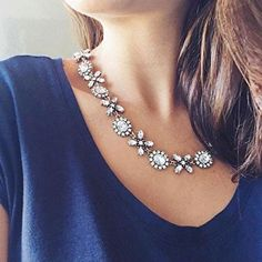 Jasmine Blossom Statement Necklace #fashion #picoftheday - 22,90 € @happinessboutique.com