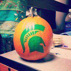 Spartan Pumpkins #mimittenstate mimittenstate.com
