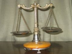 Vintage brass scale of justice balance scale by AntiquesNejadStyle, $33.00