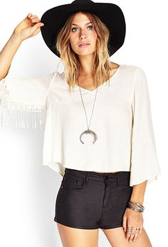 Boxy Fringed Top | FOREVER21 - 2000119500