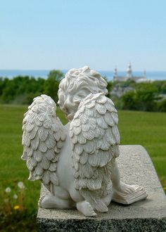 Angel statue (I have bookends just like this statue. ~Beth)