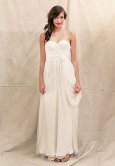 Sweetheart A-line chiffon gown