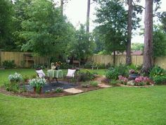 inviting back yard landscaping