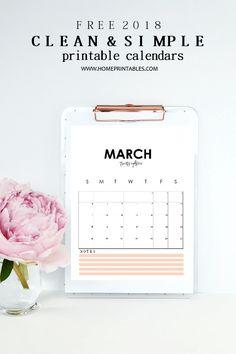 Free Printable  Floral X Calendar  Free Printable Free