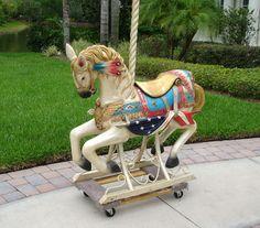 Dentzel Carousel Horse Original Bud Hurlbut Owned Dave Bradley Kaye Co Made | eBay