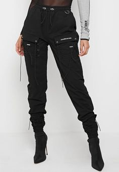 Shop Manière De Voir's stylish selection of signature Cargo Pants and Joggers. Explore our bespoke cargo stamp detailing, silver and marble hardware and statement branded components. Cargo Pants Outfit, Cargo Pants Women, Long Sleeve Mesh Bodysuit, Streetwear, Jumper, Grey Bodysuit, Cool Outfits, Fashion Outfits, Swagg