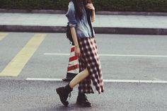 Aurora Loveless in the UNIF Nevermind Maxi Skirt