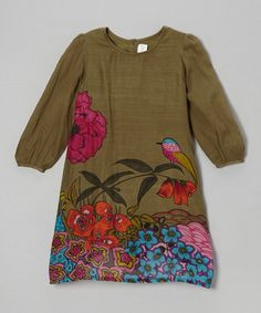 Take a look at this Green & Pink Floral Dress - Toddler & Girls by Yo Baby on #zulily today!