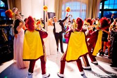 USC marching band at wedding / follow @TruePhotography