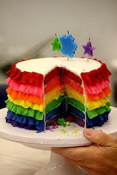 Inside rainbow cake | Flickr - Photo Sharing!