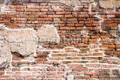 Fotobehang oude bakstenen muur fragment - abstracto • PIXERS.nl