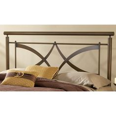 Contemporary and clean, the Marquette is a standout in home decor. The brushed copper finish adds warmth to the modern design features in the headboard. Small ball finials accentuate the arching criss cross design.