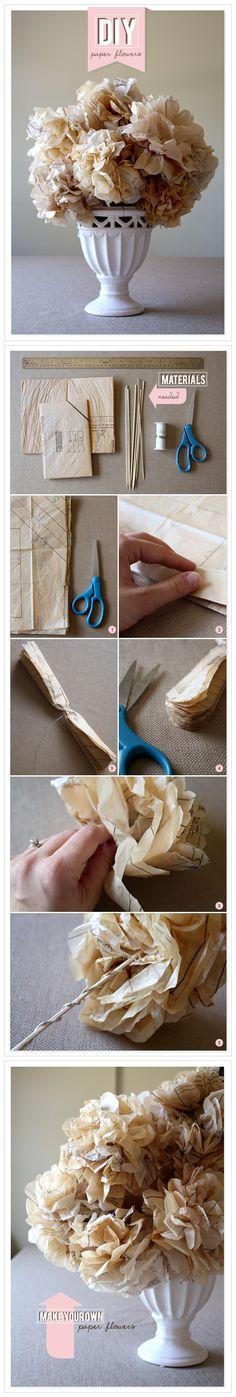 【Wedding DIY】Paper Flower Arrangement