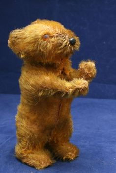 ANTIQUE MOHAIR MECHANICAL BEAR