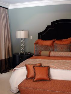 Spaces Blue Orange Bedroom Design, Pictures, Remodel, Decor and Ideas - page 4