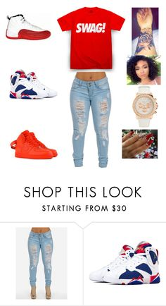 """""""swag all day"""" by aleisharodriguez ❤ liked on Polyvore featuring Aéropostale and NIKE"""