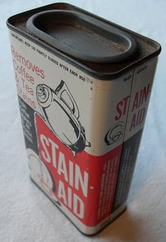 1960s packaging tin for a dish-washing powder.