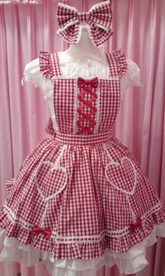 Baby Girl Dress Patterns, Baby Girl Dresses, Baby Dress, Cute Dresses, Vintage Apron Pattern, Aprons Vintage, Kawaii Fashion, Lolita Fashion, Custom Aprons