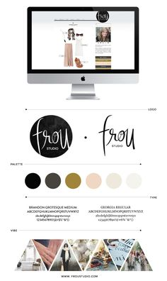 Brand Identity - like the fun and cheeky font, and I love the colour palette in general but would it work with all colours in the photography