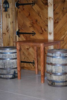 Look how great one of our high top table looks with our wine barrels!!!  First Crush Winery