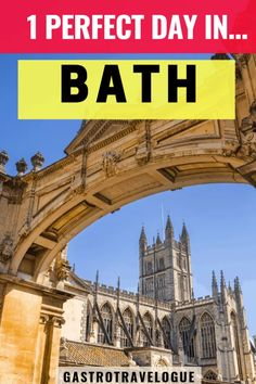 Bath is in the south- western part of England, on the river Avon. Its honey-coloured buildings , Gothic abbey, Roman baths and beautiful Georgian architecture will enchant you. If you only have a day in Bath here are 12 of the best things to do. Europe Travel Tips, European Travel, Travel Guides, Travel Destinations, Travel Goals, Travel Uk, Travel Hacks, Travel Packing, Travel Advice