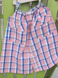 Dress - Daddy's Button Shirt - size 2-3 $22 Child's dress made from men's shirts Sold at Brownwood Paddock 4/17