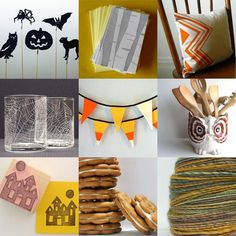 haloween crafts: love the candycorn bunting!!!!