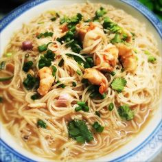 Macanese Shrimp Vermicelli Soup 澳門蝦湯米粉 | Chinese Recipes at TheHongKongCookery.com